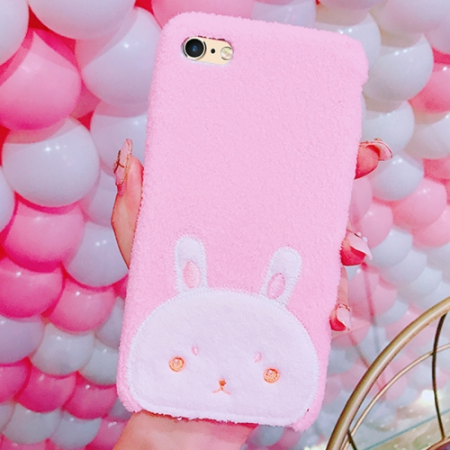 Buy For iPhone 6 & 6s Creative Cute Rabbit Pattern Plush Protective Back Cover Case for $4.46 in SUNSKY store