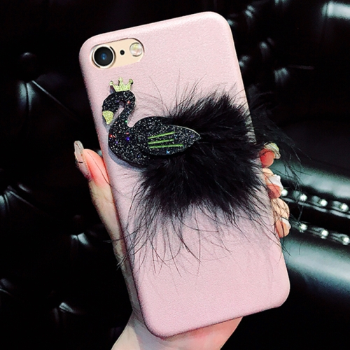 Buy For iPhone 6 & 6s Creative Cute 3D Feather Swan Pattern Protective Back Cover Case, Pink for $4.46 in SUNSKY store