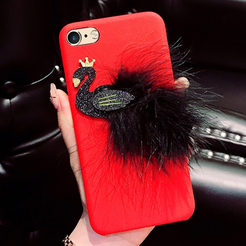 Buy For iPhone 6 & 6s Creative Cute 3D Feather Swan Pattern Protective Back Cover Case, Red for $4.46 in SUNSKY store