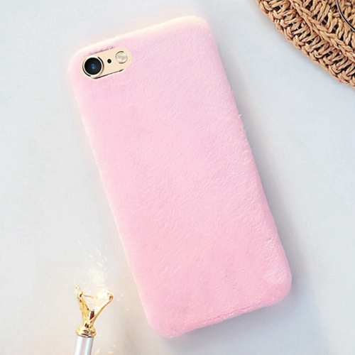 Buy For iPhone 6 & 6s Lovely Warm Plush Solid Color Protective Back Cover Hard Case, Pink for $2.29 in SUNSKY store