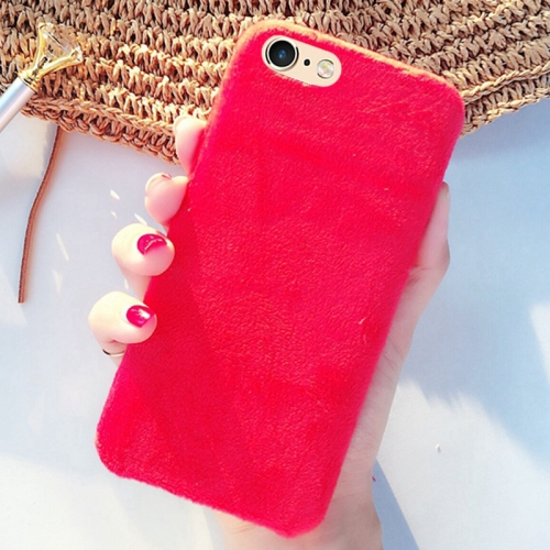 Buy For iPhone 6 & 6s Lovely Warm Plush Solid Color Protective Back Cover Hard Case, Red for $2.29 in SUNSKY store
