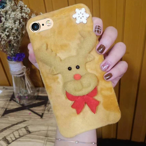 Buy For iPhone 6 & 6s Cute 3D Christmas Elk Pattern Flannel Protective Back Cover Case for $4.46 in SUNSKY store