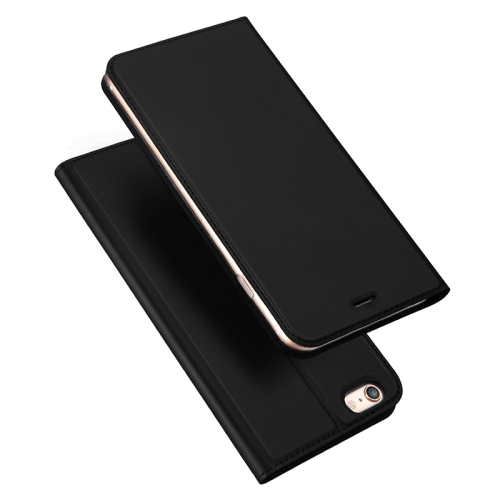 DUX DUCIS Skin Pro Series Horizontal Flip PU + TPU Leather Case for iPhone 6 & 6s, with Holder & Card Slots (Black)