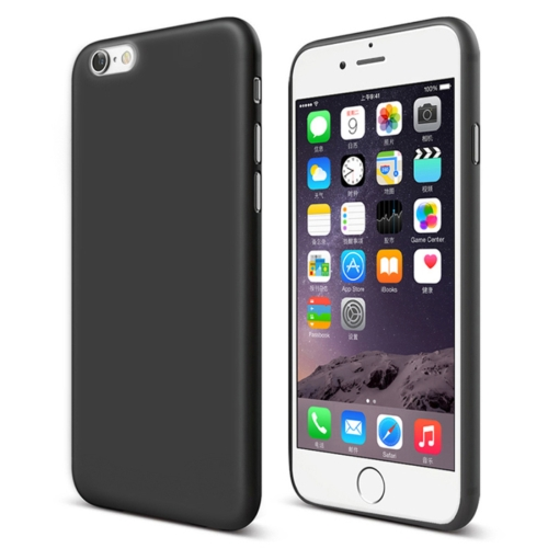 CAFELE Chiffon Series For iPhone 6 & 6s PP Ultra-slim Matte Protective Back Cover Case(Black) protective matte aluminum alloy back case cover w pc abs inner case for iphone 5 5s black