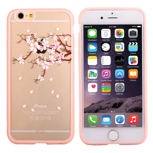 Buy For iPhone 6 & 6s Cherry Blossom Flower Pattern Transparent Plastic Protective Case for $1.21 in SUNSKY store