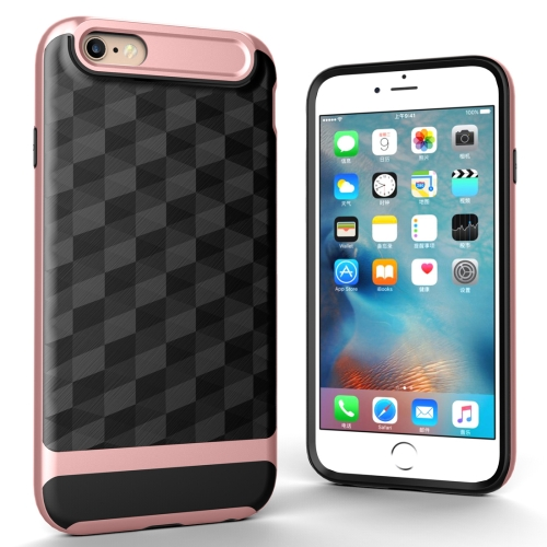 Buy For iPhone 6 3D Diamond PC + TPU Combination Protective Case (Rose Gold) for $2.02 in SUNSKY store