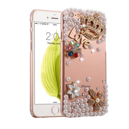 Buy Fevelove for iPhone 6 & 6s Diamond Encrusted Bling Crown Pattern PC Protective Case Back Cover for $2.97 in SUNSKY store