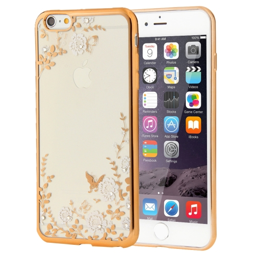 Buy For iPhone 6 & 6s Flowers Patterns Electroplating Soft TPU Protective Cover Case for $1.17 in SUNSKY store