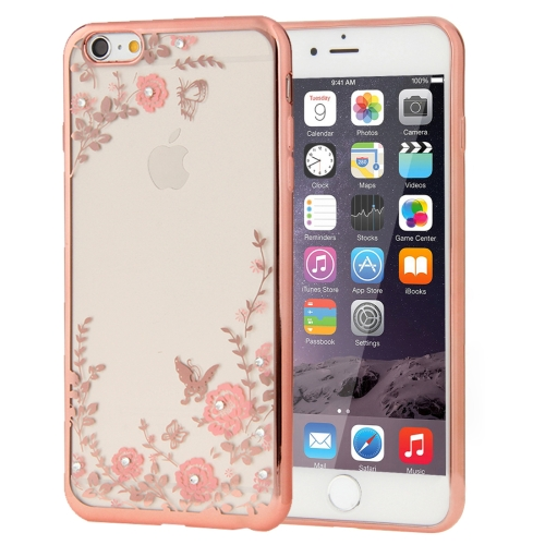 Buy For iPhone 6 & 6s Flowers Patterns Electroplating Soft TPU Protective Cover Case (Rose Gold) for $1.17 in SUNSKY store