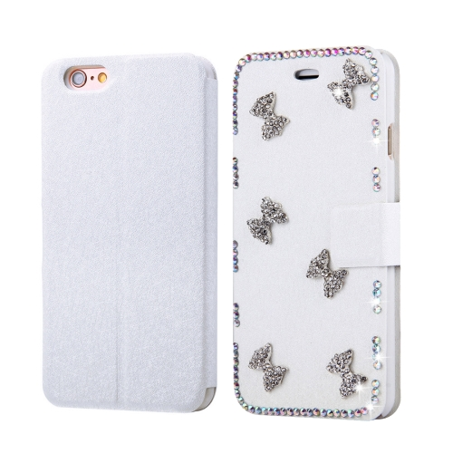 Buy Fevelove for iPhone 6 & 6s Diamond Encrusted Bowknots Pattern Horizontal Flip Leather Case with Magnetic Buckle & Card Slots for $3.93 in SUNSKY store