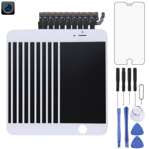 10 PCS LCD Screen and Digitizer Full Assembly for iPhone 6(White)