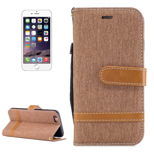 Buy For iPhone 6 & 6S Denim Texture Leather Case with Holder & Card Slots & Wallet & Lanyard, Brown for $2.54 in SUNSKY store