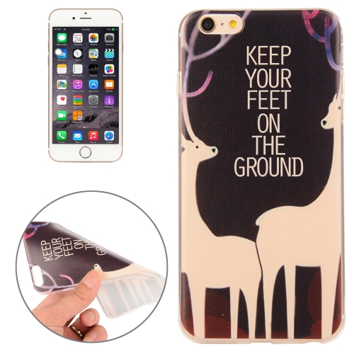 Buy For iPhone 6 & 6s Sika Deer Words Pattern TPU Protective Case for $1.00 in SUNSKY store
