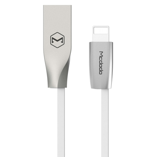 Buy Mcdodo CA-1750 1m 2.4A 8 Pin to USB Kirsite Cover TPE Data Sync Charging Cable with Silver Metal Head for $4.76 in SUNSKY store