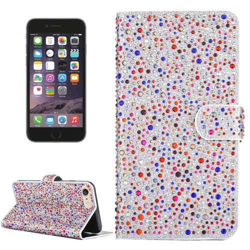 Buy For iPhone 6 & 6s Raindrops Pattern Horizontal Flip Leather Case with Holder & Card Slots, Colorful for $3.94 in SUNSKY store