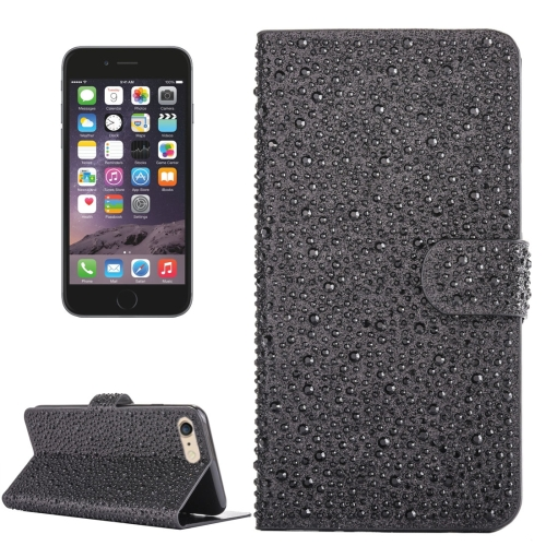 Buy For iPhone 6 & 6s Raindrops Pattern Horizontal Flip Leather Case with Holder & Card Slots, Black for $3.94 in SUNSKY store