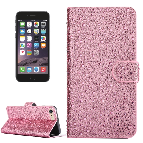 Buy For iPhone 6 & 6s Raindrops Pattern Horizontal Flip Leather Case with Holder & Card Slots, Pink for $3.76 in SUNSKY store