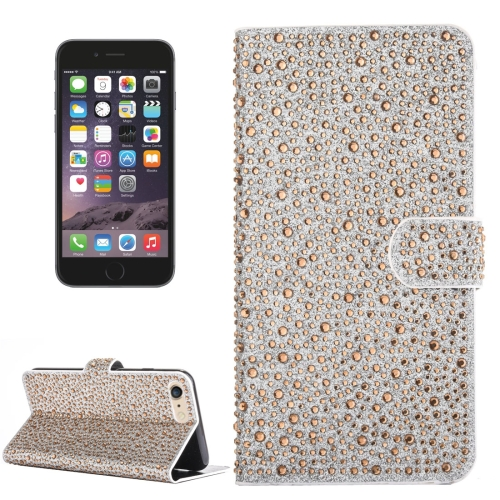 Buy For iPhone 6 & 6s Raindrops Pattern Horizontal Flip Leather Case with Holder & Card Slots, Gold for $3.84 in SUNSKY store