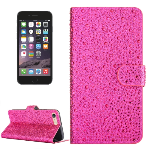 Buy For iPhone 6 & 6s Raindrops Pattern Horizontal Flip Leather Case with Holder & Card Slots, Magenta for $3.84 in SUNSKY store
