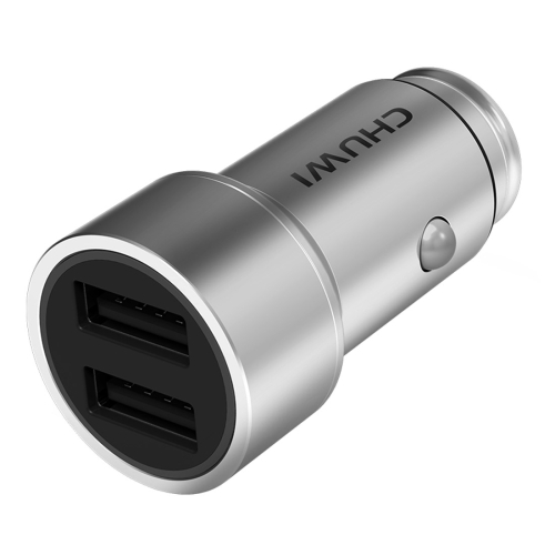 Buy CHUWI C-100 5V 2.4A Max 3.4A Dual USB Port Raid Car Charger Adapter for $8.29 in SUNSKY store