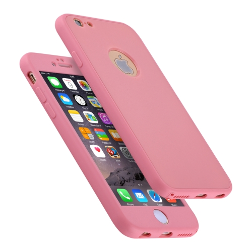 Buy For iPhone 6 & 6s Stylish Lightweight 360 Degree Shockproof Detachable TPU + PC Combination Protective Case, Pink for $2.02 in SUNSKY store