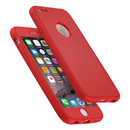 Buy For iPhone 6 & 6s Stylish Lightweight 360 Degree Shockproof Detachable TPU + PC Combination Protective Case, Red for $2.02 in SUNSKY store