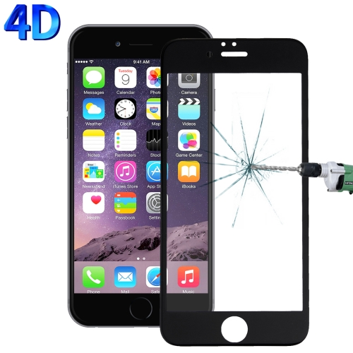 Buy For iPhone 6 & 6s 0.26mm 9H Surface Hardness 4D Curverd Arc Explosion-proof HD Silk-screen Tempered Glass Full Screen Film, Black for $2.76 in SUNSKY store
