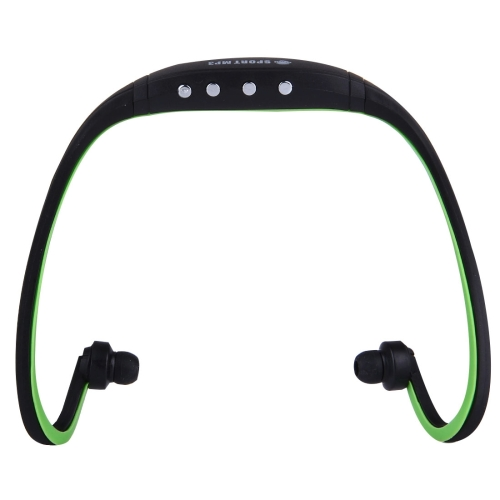 SH-W3 Life Waterproof Sweatproof Stereo Sports Earbud Earphone In-ear Headphone Headset with Micro SD / TF Card, For Smart Phones & iPad & Laptop & Notebook & MP3 or Other Audio Devices, Maximum SD Card Storage: 32GB(Black + Green)