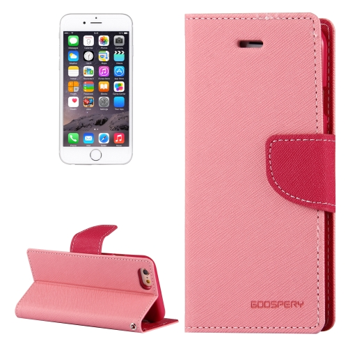 Buy MERCURY GOOSPERY FANCY DIARY for iPhone 6 & 6s Cross Texture Horizontal Flip Leather Case with Card Slots & Wallet & Holder, Pink for $3.26 in SUNSKY store