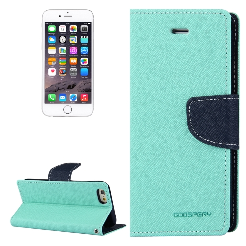 Buy MERCURY GOOSPERY FANCY DIARY for iPhone 6 & 6s Cross Texture Horizontal Flip Leather Case with Card Slots & Wallet & Holder (Light Green) for $3.45 in SUNSKY store