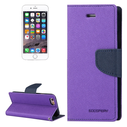 Buy MERCURY GOOSPERY FANCY DIARY for iPhone 6 & 6s Cross Texture Horizontal Flip Leather Case with Card Slots & Wallet & Holder, Purple for $3.45 in SUNSKY store