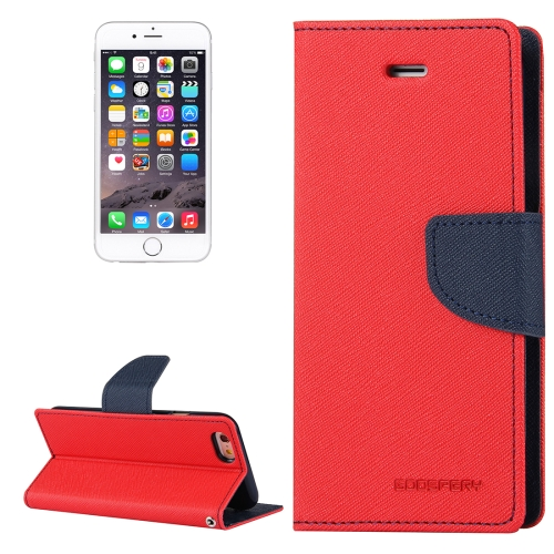 Buy MERCURY GOOSPERY FANCY DIARY for iPhone 6 & 6s Cross Texture Horizontal Flip Leather Case with Card Slots & Wallet & Holder, Red for $3.29 in SUNSKY store