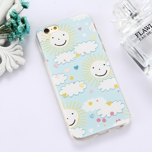 Buy For iPhone 6 & 6s TPU Embossed Smiling Face Sun Pattern Dropproof Protective Case Back Cover for $1.56 in SUNSKY store