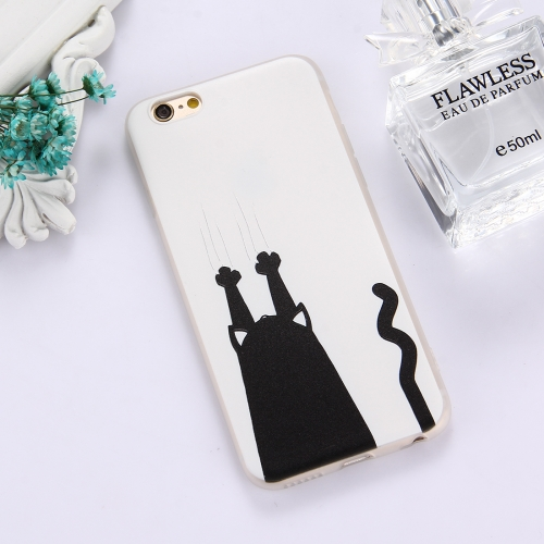 Buy For iPhone 6 & 6s TPU Frosted Embossed Black Cat Catch Wall Pattern Protective Case Back Cover for $1.49 in SUNSKY store