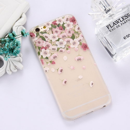 Buy For iPhone 6 & 6s TPU Frosted Embossed Petals Pattern Protective Case Back Cover for $1.49 in SUNSKY store