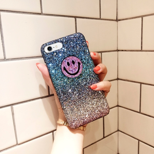 Buy For iPhone 6 & 6s Glitter Powder Gradient Purple Smiling Face Protective Back Cover Case for $2.66 in SUNSKY store
