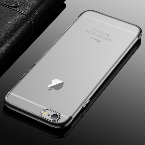 CAFELE For iPhone 6 & 6s Color Electroplating TPU Soft Protective Back Cover Case (Black) asling anti drop electroplating soft cover protector shell tpu back case for letv le 2 x526