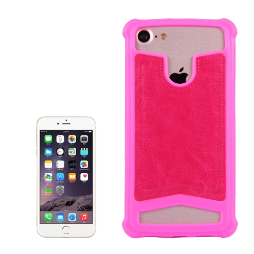 Buy 4.5-4.8 inch Universal Crazy Horse Texture PU Leather + Silicone Protective Case for Sony, Blackberry, HTC, Nokia, Blackview, ZTE, iNew, Leagoo, Bluboo and other Smartphones, Size: 14.2x7.4x1cm, Magenta for $1.00 in SUNSKY store