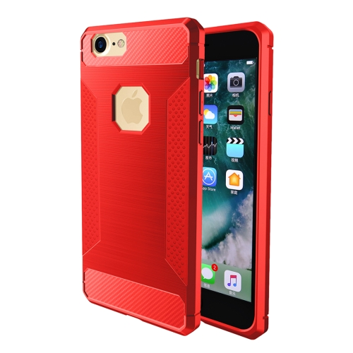 Buy For iPhone 6 & 6s Brushed Carbon Fiber Texture Shockproof TPU Protective Cover Case, Red for $1.88 in SUNSKY store