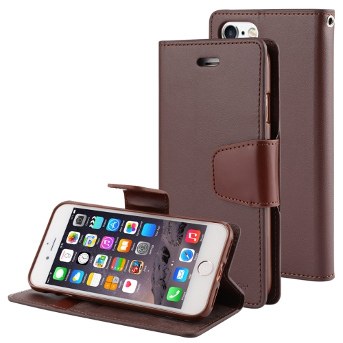 MERCURY GOOSPERY SONATA DIARY Series for iPhone 6 & 6s Horizontal Flip Leather Case with Holder & Card Slots & Wallet(Brown)