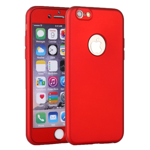 Buy For iPhone 6 & 6s 360 Degree Shockproof Oil Spout Silicone Back Case + PC Cover Combination Protective Case, Red for $2.17 in SUNSKY store