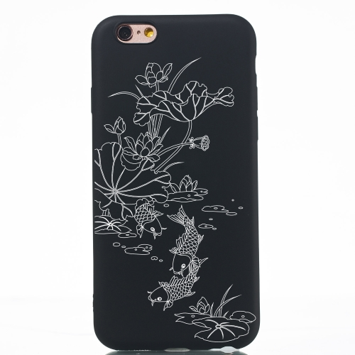 Lotus Pond Painted Pattern Soft TPU Case for iPhone 6 & 6s