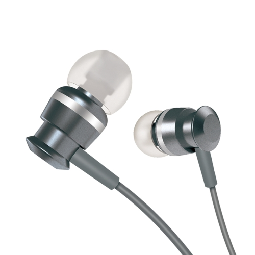 JOYROOM EL122 3.5mm In-Ear Metal Moving Coil Stereo Earphone with Mic, For iPad, iPhone, Galaxy, Huawei, Xiaomi, LG, HTC and Other Smart Phones(Grey)
