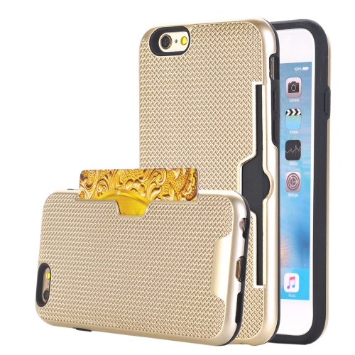 Buy For iPhone 6 & 6s Dream Network Dropproof Protective Back Cover Case with Card Slots, Gold for $2.17 in SUNSKY store