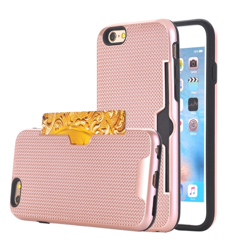 Buy For iPhone 6 & 6s Dream Network Dropproof Protective Back Cover Case with Card Slots (Rose Gold) for $2.17 in SUNSKY store