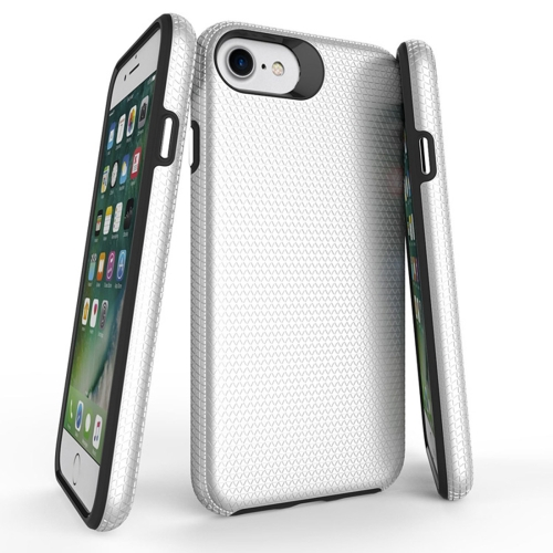 Buy For iPhone 6 & 6s PC + TPU Chrome Plated Press Button Anti-slip Protective Back Cover Case, Silver for $2.91 in SUNSKY store