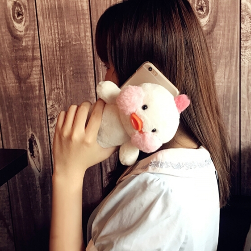 Buy For iPhone 6 & 6s Cute 3D Duck Doll Plush Frosted Protective Back Cover Case, White for $5.39 in SUNSKY store