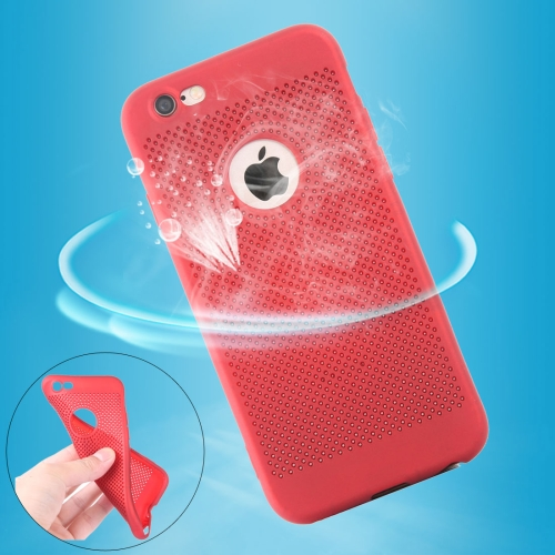 Buy For iPhone 6 & 6s Heat Dissipation Mesh TPU Protective Back Cover Case, Red for $1.56 in SUNSKY store