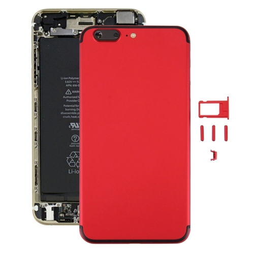 Buy iPartsBuy 6 in 1 Full Assembly Metal Housing Cover with Appearance Imitation of iPhone 7 for iPhone 6s Plus, Including Back Cover (Big Camera Hole) & Card Tray & Volume Control Key & Power Button & Mute Switch Vibrator Key & Sign, No Headphone Jack (Red+Black) for $21.35 in SUNSKY store