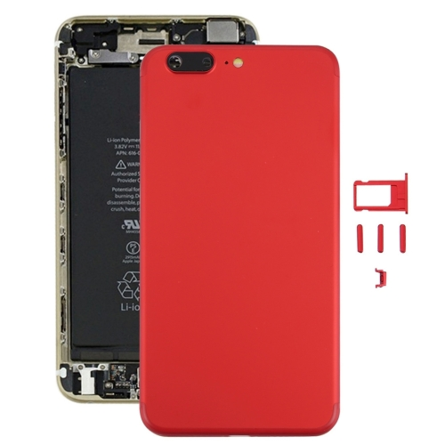 Buy iPartsBuy 6 in 1 Full Assembly Metal Housing Cover with Appearance Imitation of iPhone 7 for iPhone 6s Plus, Including Back Cover (Big Camera Hole) & Card Tray & Volume Control Key & Power Button & Mute Switch Vibrator Key & Sign, No Headphone Jack, Red for $18.74 in SUNSKY store